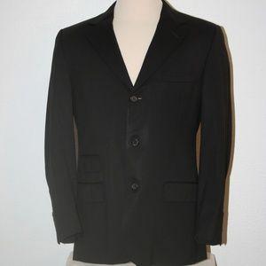 """GUCCI Black Suit Sport Coat Blazer C: 44"""" 3-Button"""